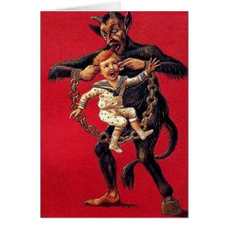 Krampus Weihnachtskarte Grußkarte