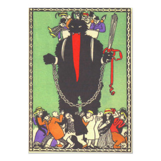 Krampus, welches die schlechten Leute sammelt 12,7 X 17,8 Cm Einladungskarte