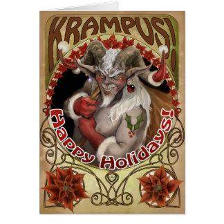 Krampy Feiertage Grußkarte