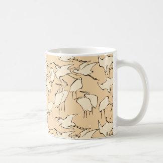 Kräne von den schnellen Lektionen im vereinfachten Kaffeetasse