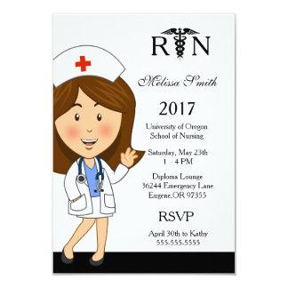 Krankenpflege-SchulAbschluss-Einladung Karte