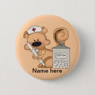 Krankenschwester-Eichhörnchen-Knopf Runder Button 5,1 Cm