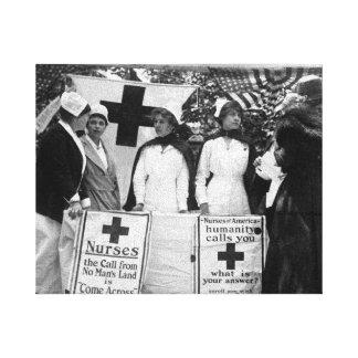 Krankenschwester-Einstellung Leinwanddruck