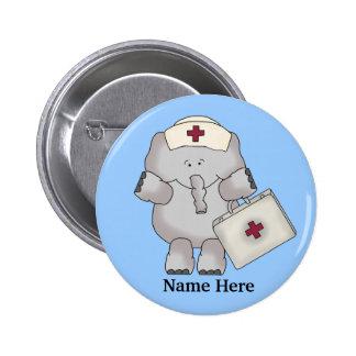 Krankenschwester-Elefantknopf Runder Button 5,7 Cm