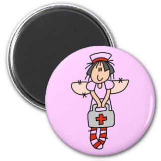 Krankenschwester-Engels-Magnet Runder Magnet 5,1 Cm