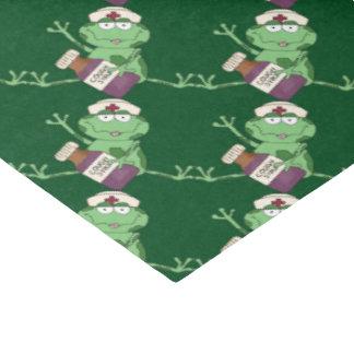 Krankenschwester-Frosch-Geschenk-Seidenpapier Seidenpapier