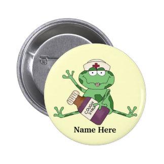 Krankenschwester-Frosch-Knopf Runder Button 5,1 Cm