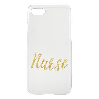 Krankenschwester-GoldImitat-Glittermetallisches iPhone 7 Hülle