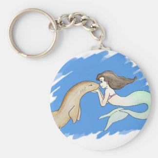 Krankenschwester-Haifisch-Meerjungfrau Schlüsselanhänger