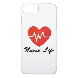 Krankenschwester-Leben - Grungy EKG iPhone 8 Plus/7 Plus Hülle