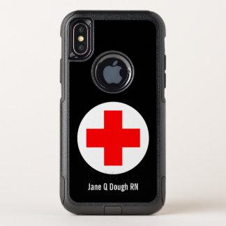 Krankenschwester-Namensschablone OtterBox Commuter iPhone X Hülle