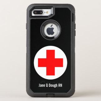 Krankenschwester-Namensschablone OtterBox Defender iPhone 8 Plus/7 Plus Hülle