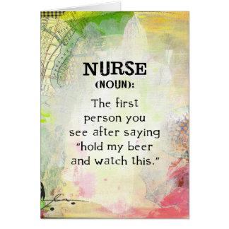 Krankenschwester (Nomen) Karte