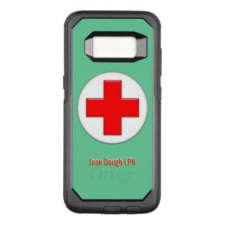 Krankenschwester-Quernamensschablone OtterBox Commuter Samsung Galaxy S8 Hülle