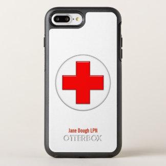 Krankenschwester-Quernamensschablone OtterBox Symmetry iPhone 8 Plus/7 Plus Hülle