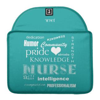 Krankenschwester Stolz-Attribute/blaugrünes Sleeve Für MacBook Pro