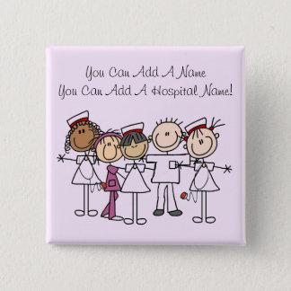 Krankenschwester-Wochen-T-Shirts und Geschenke Quadratischer Button 5,1 Cm