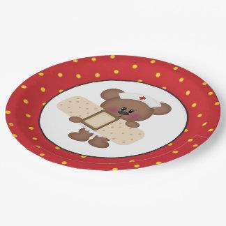 Krankenschwesterbärn-Party-Papierplatte Pappteller 22,9 Cm