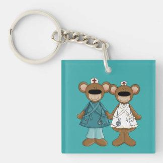 Krankenschwestern segnen vom Gott. Geschenk Schlüsselanhänger