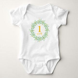 Kranz-1-monatiger kundenspezifischer baby strampler