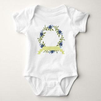 Kranz-blauer kundenspezifischer Baby-Jersey-mit Baby Strampler