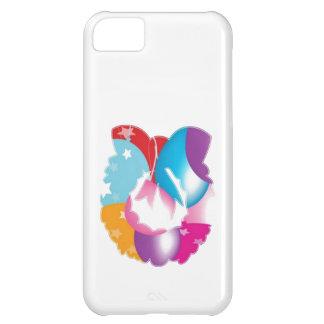 Kranz-roter Silk Gewebe-Flecken n Baloons iPhone 5C Hülle