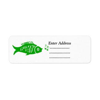 Kranz Weihnachtsadressen-Aufkleberfische Kleiner Adressaufkleber