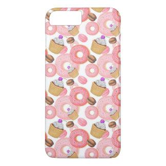 Krapfen-und Kuchen-Nachtisch-Muster iPhone 8 Plus/7 Plus Hülle