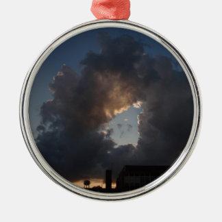 Krapfen-Wolke Rundes Silberfarbenes Ornament