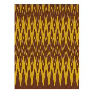 Kräuselungen Brown u. Gelb Postkarte
