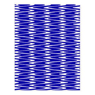 Kräuselungen u. Wellen blau u. weiß Postkarte