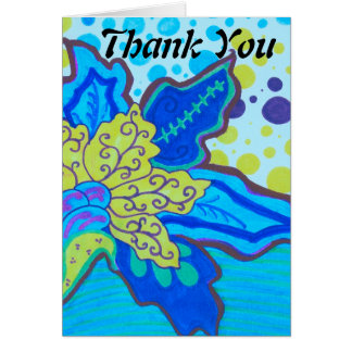 Kräuselungs-Blüten-Blume danken Ihnen Mitteilungskarte