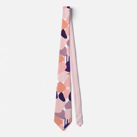 Kravatte in abstraktem Terrazzo Design Bedruckte Krawatte