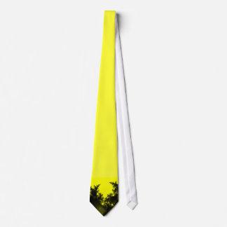Krawatte Fraktal schwarz gelb