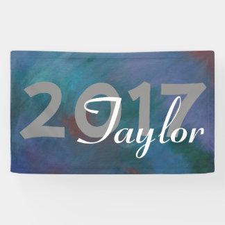 Krawatte-Gefärbtes | dunkelblaues grünes lila Banner