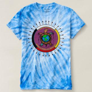 Krawatte gefärbtes gebürtiger Amerikaner-T-Shirt T-shirt