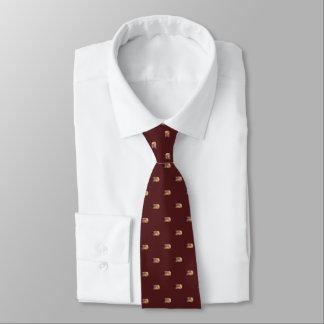 Krawatte mit Aquarell des Korks des Weins