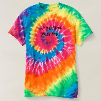 Krawatten-kreatives Geniet-shirt T-shirt