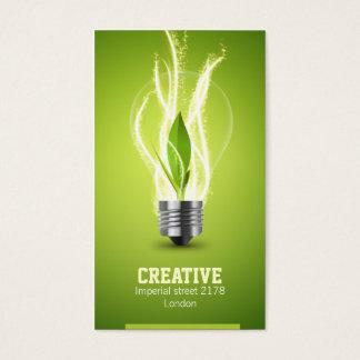 kreative energic Birnen-Visitenkarte Visitenkarten
