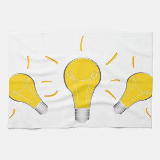 Kreative Idee der Glühlampe Handtuch