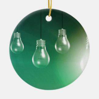 Kreative Innovation und glühendes Konzept als Keramik Ornament