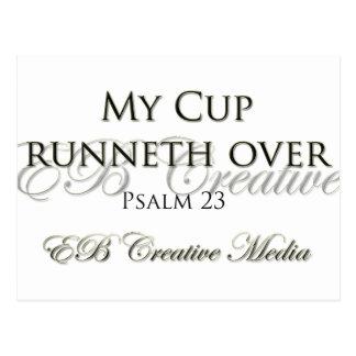 Kreative Medien EB - meine Schale Runneth vorbei Postkarten