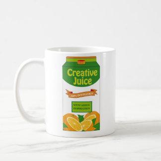 Kreativer Saft-Karton Tasse