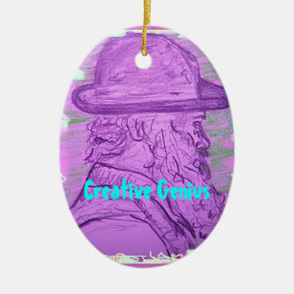 Kreatives Genie Ovales Keramik Ornament