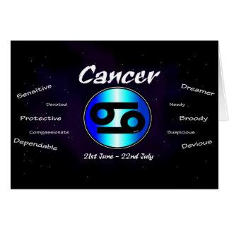 Krebs-Geburtstags-Karte Karte