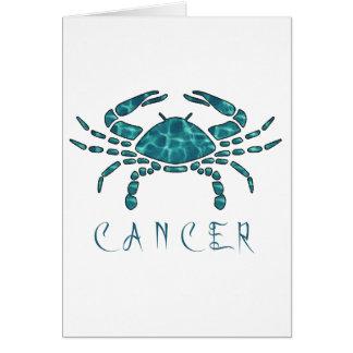Krebs Grußkarte