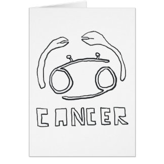 Krebs-Stern-Zeichen Grußkarte
