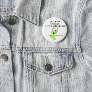Krebs-Tyrann (Limones grünes Band) Runder Button 5,7 Cm