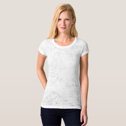 Canvas Burnout T-Shirt für Frauen
