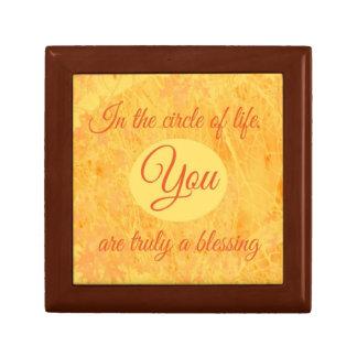 Kreis der Leben-Holz-Geschenkboxen Geschenkbox